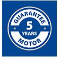 * Motor guarantee